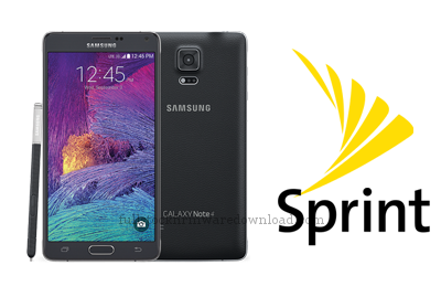 Full 4 files, full stock firmware for Samsung Galaxy Note 4 (Sprint) Model SM-N910P