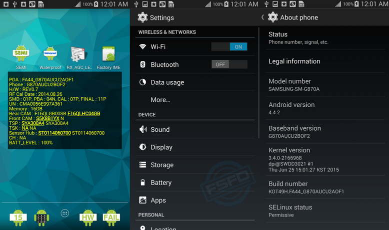 Combination firmware for Samsung SM-G870A Galaxy S5 Active
