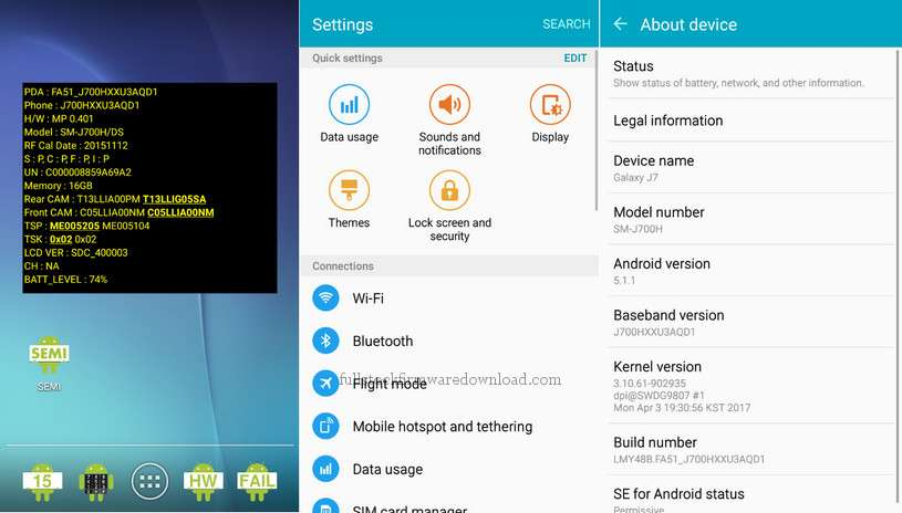 Combination firmware for Samsung SM-J700H/DS Galaxy J7 Duos