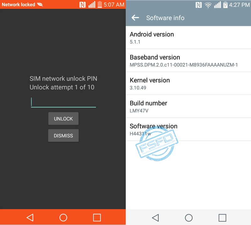 Protected: Sim network unlock, Bypass FRP, Remove Factory Reset Protection for LG Escape2 (AT&T) model H443 Android version: 5.1.1 11w