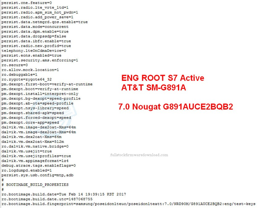 Eng Root for Samsung SM-G891A Galaxy S7 Active TD-LTE