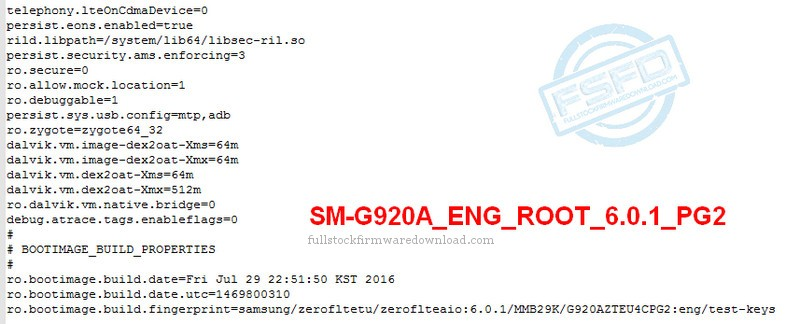 Eng Boot, Sboot, Eng Root for Samsung SM-G920AZ Galaxy S6 LTE-A