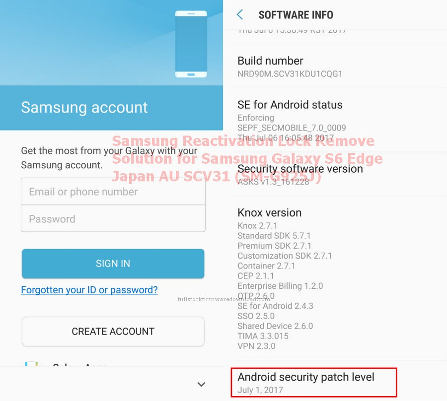 Samsung Reactivation Lock Remove Solution for Samsung SM-G925J Galaxy S6 Edge WiMAX 2+ SCV31 (Samsung Zero)