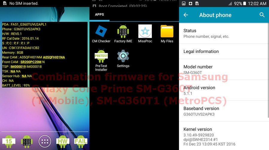 Combination firmware for Samsung Galaxy Core Prime SM-G360T (T