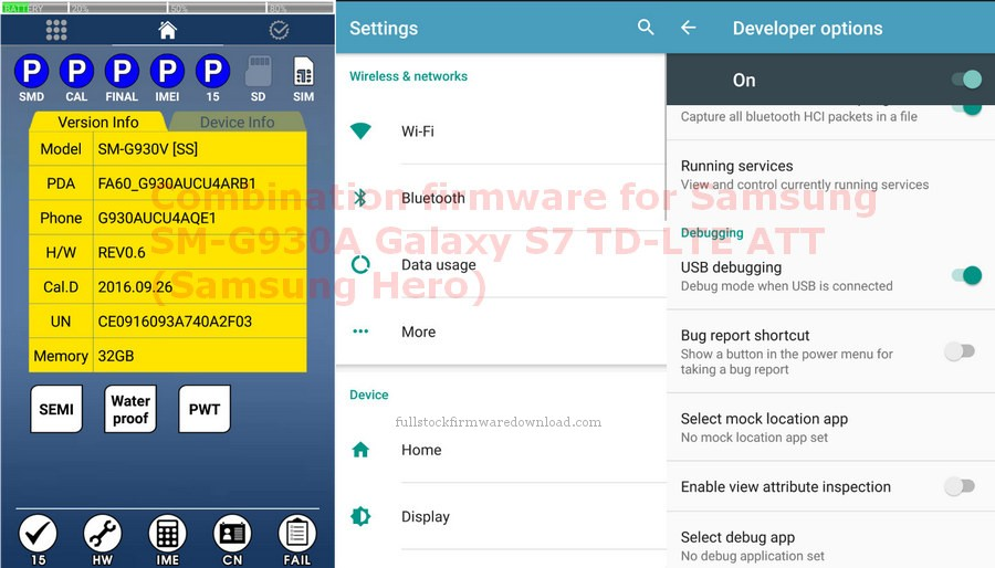 Combination firmware for Samsung Galaxy S7 TD-LTE S7
