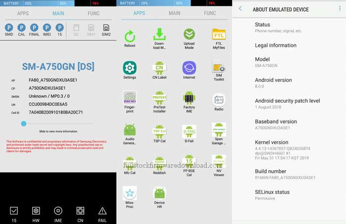 Combination firmware for Samsung Galaxy A7 2018 TD-LTE EMEA