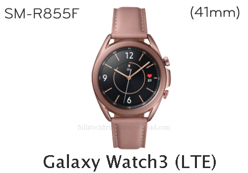 Samsung Galaxy Watch3 41mm | SM-R855F Full stock firmware, full repair firmware, Factory firmware, Combination firmware for Samsung Galaxy Watch3 LTE/4G | SM-R855F